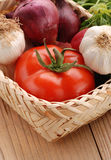 Tomato and vegetables Stock Images