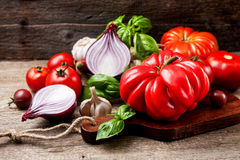 Tomato and vegetables Stock Photo