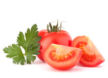 Tomato vegetables and parsley leaves still life Royalty Free Stock Photos