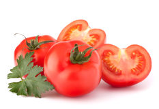 Tomato vegetables and parsley leaves still life Stock Photography