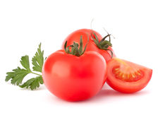 Tomato vegetables and parsley leaves still life Royalty Free Stock Photography