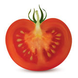 Tomato Vertical Cut Stock Photography
