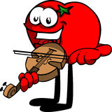 Tomato with violin Royalty Free Stock Photos