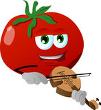 Tomato with violin Royalty Free Stock Images
