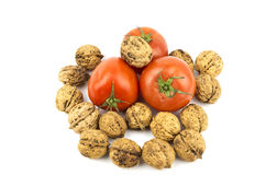 Tomato with Walnuts Royalty Free Stock Image