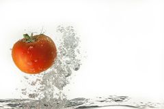 Tomato In The Water Stock Photos