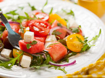 Tomato and Watermelon Salad Royalty Free Stock Image