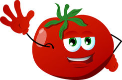 Tomato waving hand Royalty Free Stock Images