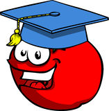 Tomato wearing Graduation cap Royalty Free Stock Photo