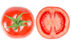 Tomato on white Stock Images