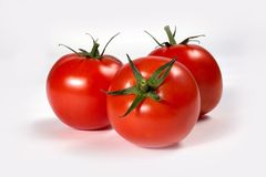 Tomato. On a white background Royalty Free Stock Images