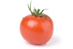 Tomato on a white background. Royalty Free Stock Image