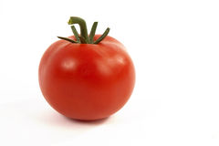 Tomato on White Background. Fresh Red Tomato on White Isolated Background Stock Images