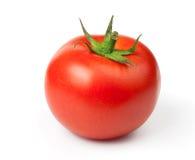 Tomato on a white background. One Juicy Tomato on a white background Stock Photography
