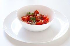 Tomato with white cheese Stock Image