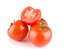 Tomato on white Stock Image