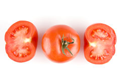 Tomato on white Royalty Free Stock Image