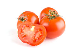 Tomato on white Royalty Free Stock Photography