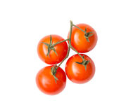 Tomato on white isolate background winth clipping path. Stock Photos