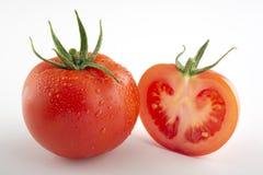 Tomato on white. royalty free stock images