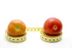 Tomato With Measure Tape Stock Photo