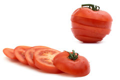 Tomato With The Green Branch, Royalty Free Stock Photo