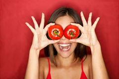 Tomato woman Stock Photography