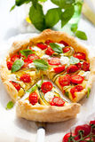 tomato and zucchini quiche Royalty Free Stock Photo