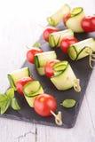Tomato and  zucchini salad Stock Image