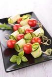 Tomato and  zucchini salad Royalty Free Stock Photos