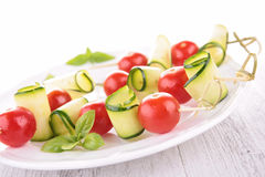 Tomato and  zucchini salad Royalty Free Stock Photography
