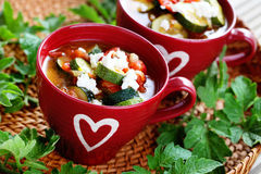 Tomato and zucchini soup Royalty Free Stock Image