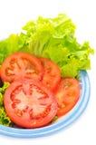 Tomatoe και μαρούλι Στοκ εικόνα με δικαίωμα ελεύθερης χρήσης