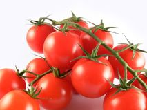 Tomatoe. Close up bunch tomatoe on white background Stock Photos