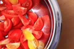 Tomatoe background Stock Photo