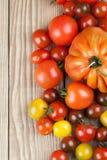 Tomatoe border Royalty Free Stock Photo