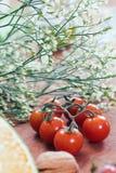 Tomatoe de cerise Photo libre de droits