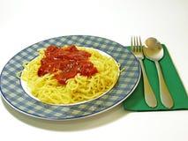 Tomatoe de petit morceau de spaghetti Image libre de droits