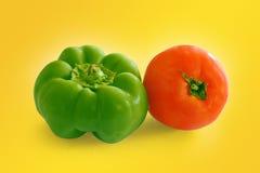 Tomatoe en peper Stock Afbeelding
