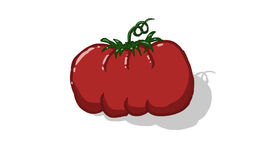 Tomatoe. Fresh and juicy, red color illustration Stock Image