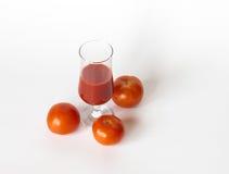 Tomatoe fruktsaft Royaltyfria Bilder
