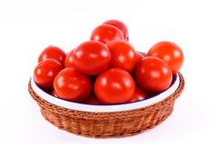 Tomatoe Korb Stockbild
