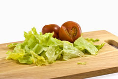 Tomatoe and lettuce Stock Photos