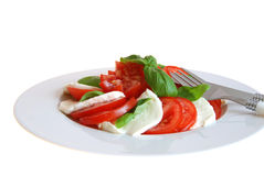 Tomatoe with mozzarella Stock Photo
