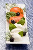 Tomatoe Mozzarella Salad Stock Photos