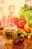 Tomatoe and oil Stock Images