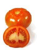 Tomatoe op wit Stock Afbeeldingen