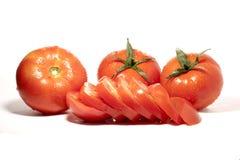 Tomatoe rosso Fotografia Stock