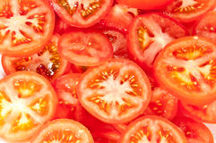 Tomatoe slices Royalty Free Stock Photos