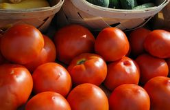 Tomatoe stand Royalty Free Stock Images